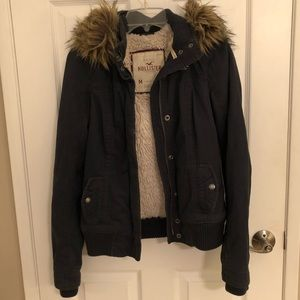 09f2dccf595a ... Hollister Faux Fur Lined Parka Jacket ...